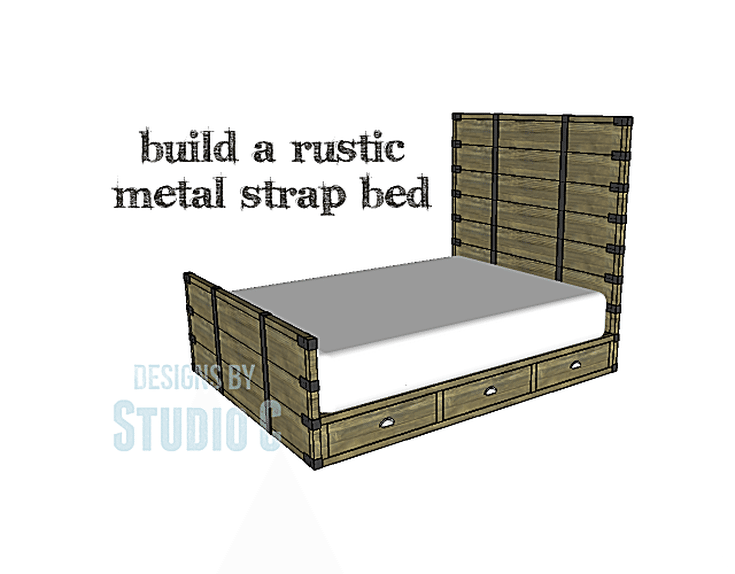 13 Free DIY Bed Plans for Adults and Children: Free Rustic Metal ...