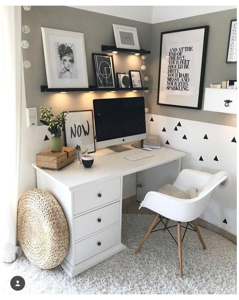 small home office ideas bedroom tiny spaces #small