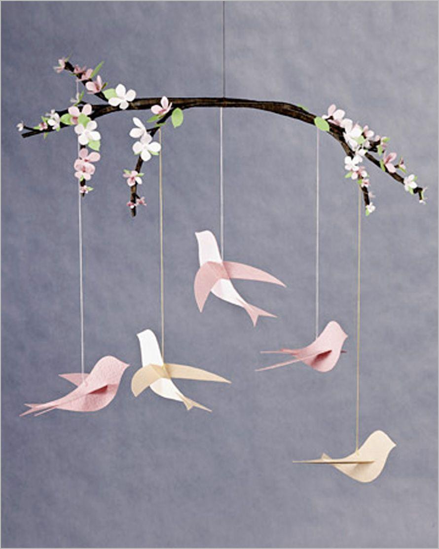 Decorating , Creative and Special DIY Baby Mobile : Diy Baby Mobiles Bird