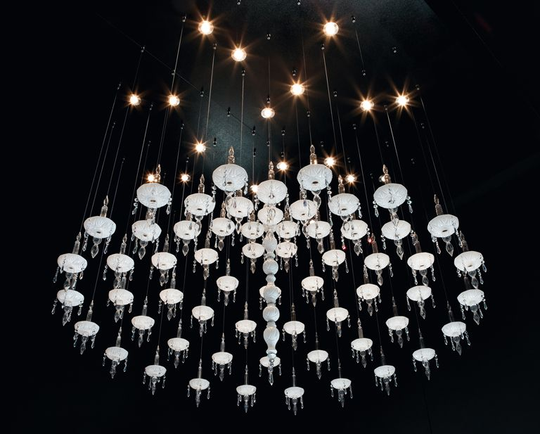 Limelight design by Lorenzo Bertocco | Deconstructed chandelier in crystal glass | #light4 #design #lamp