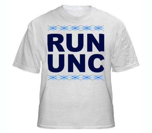 c630caf055c RUN UNC T-shirt UNC Chapel Hill Carolina Tarheels