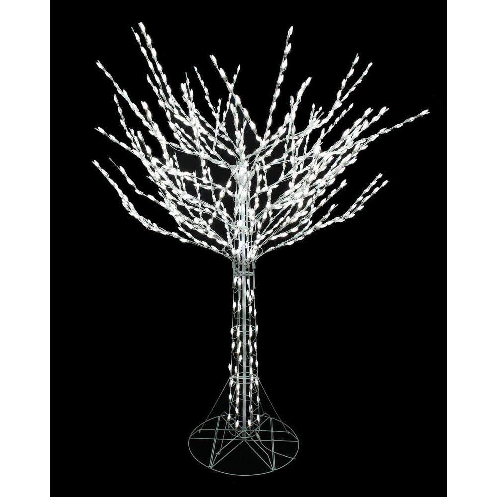 Home Accents Holiday 8 Ft Led Pre Lit Bare Branch Tree With White Lights 4407463w 18uho1 White Led Lights Tree Branches Home Accents