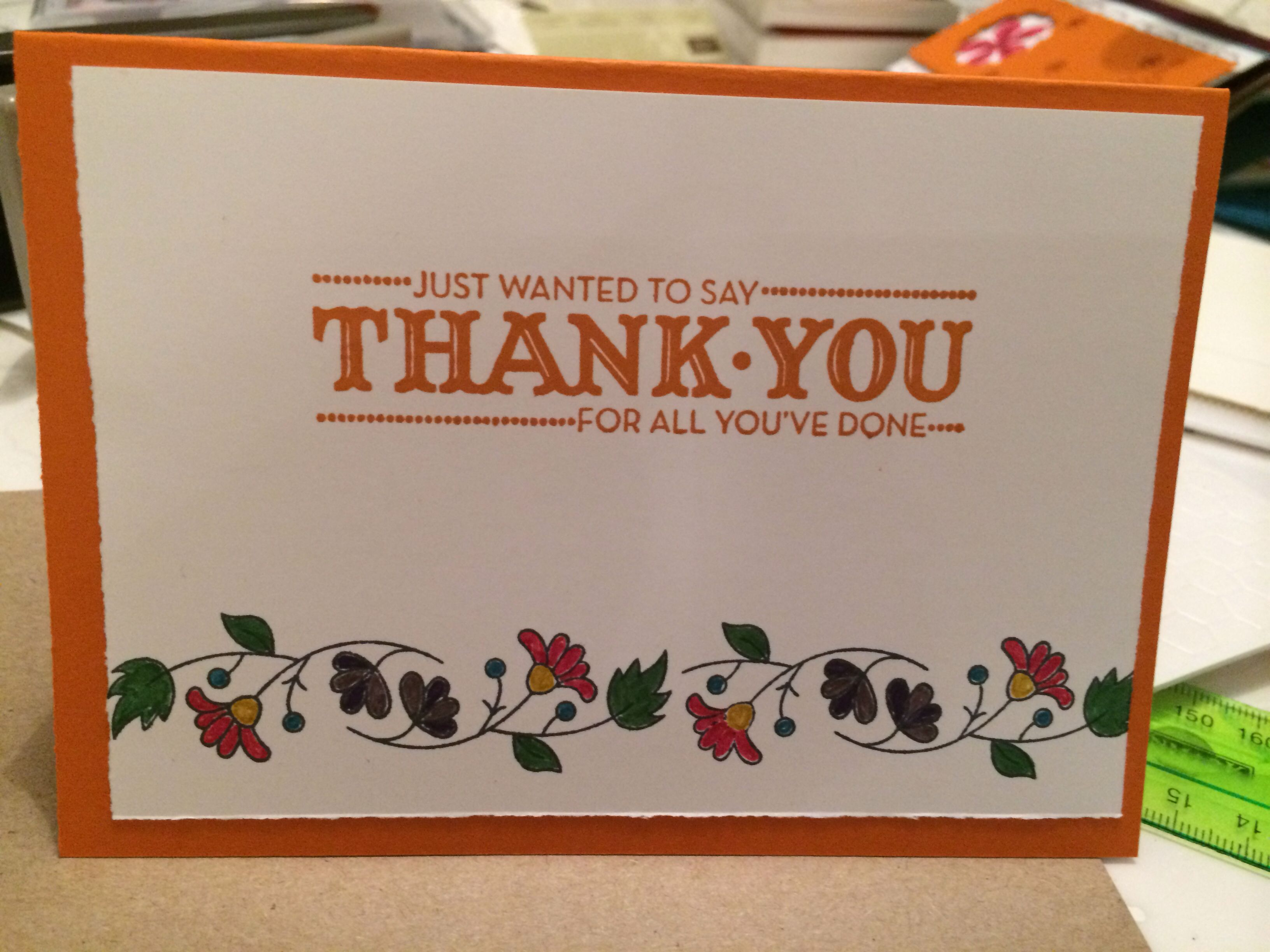 simple yet beautiful this thank you card is quick and easy