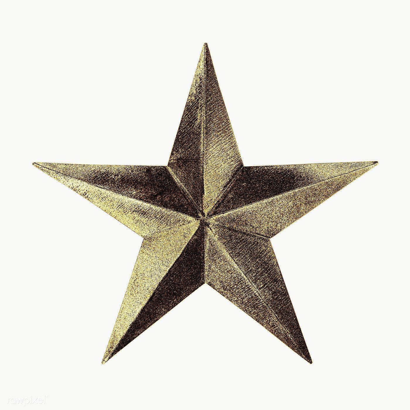 Gold Star Sticker Design Element Free Image By Rawpixel Com Winn Gold Star Stickers Gold Stars Star Stickers