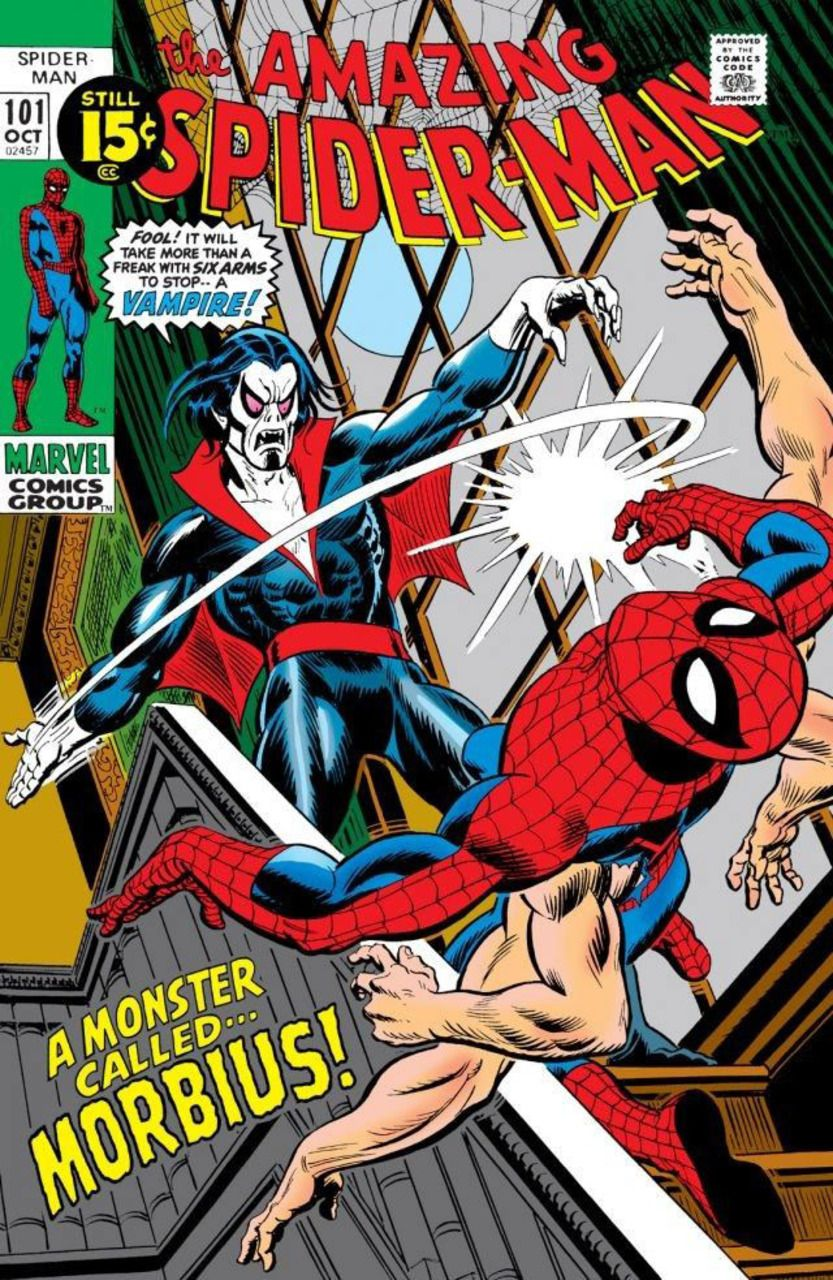 The Amazing Spider-Man # 101 - A Monster Called Morbius - October 1, 1971