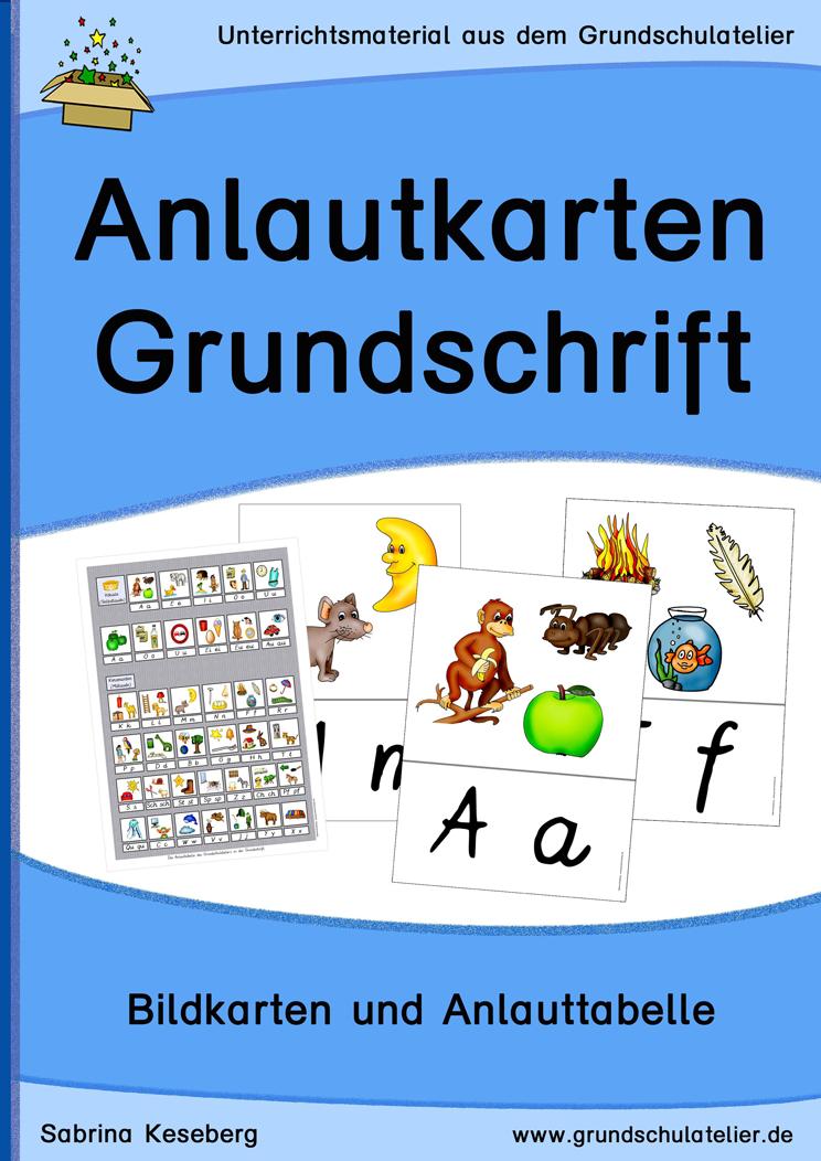 Anlautkarten (Bildkarten, Anlauttabelle): Grundschrift ...