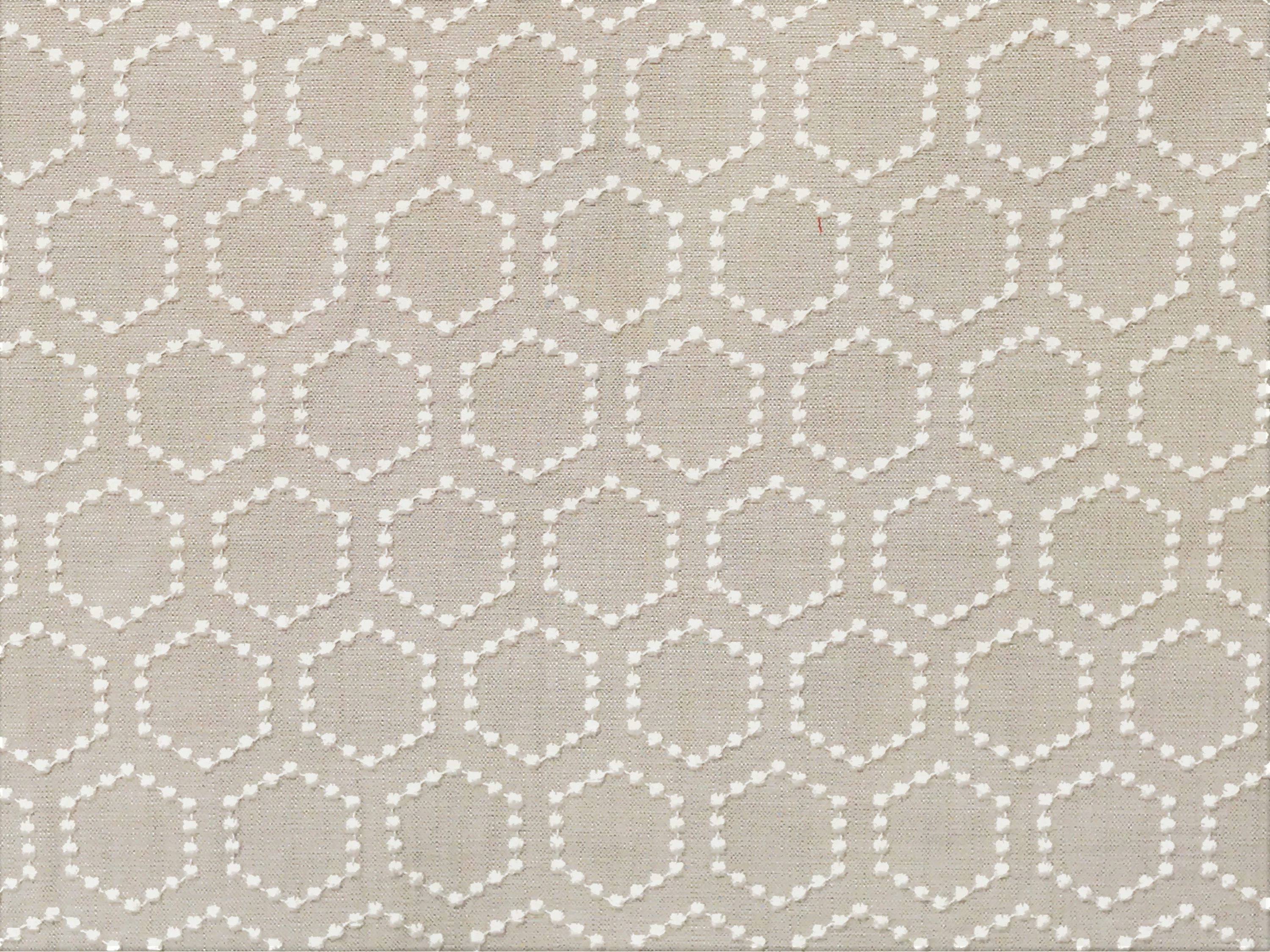 Curtain Fabric Wholesale Natural Beige And Ivory Hexagon Curtain Fabric By The Yard