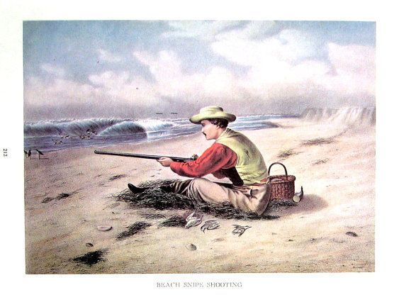 """Vintage 15"""" x 11.75"""" Currier and Ives Quality Print # 42, Suitable for Framing #Vintage"""