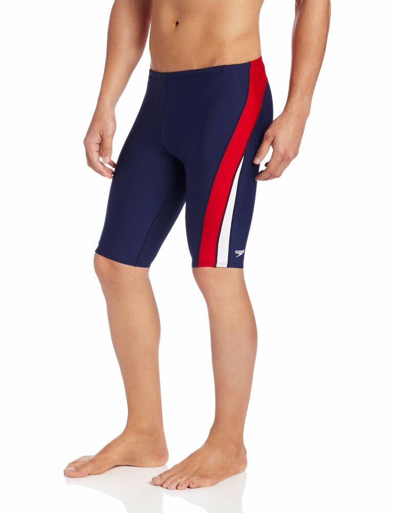 2d7ba82b60 (eBay Sponsored) Speedo NEW Blue Red White Mens Size 34 Side Stripe Dive Shorts  Swimwear $54 856
