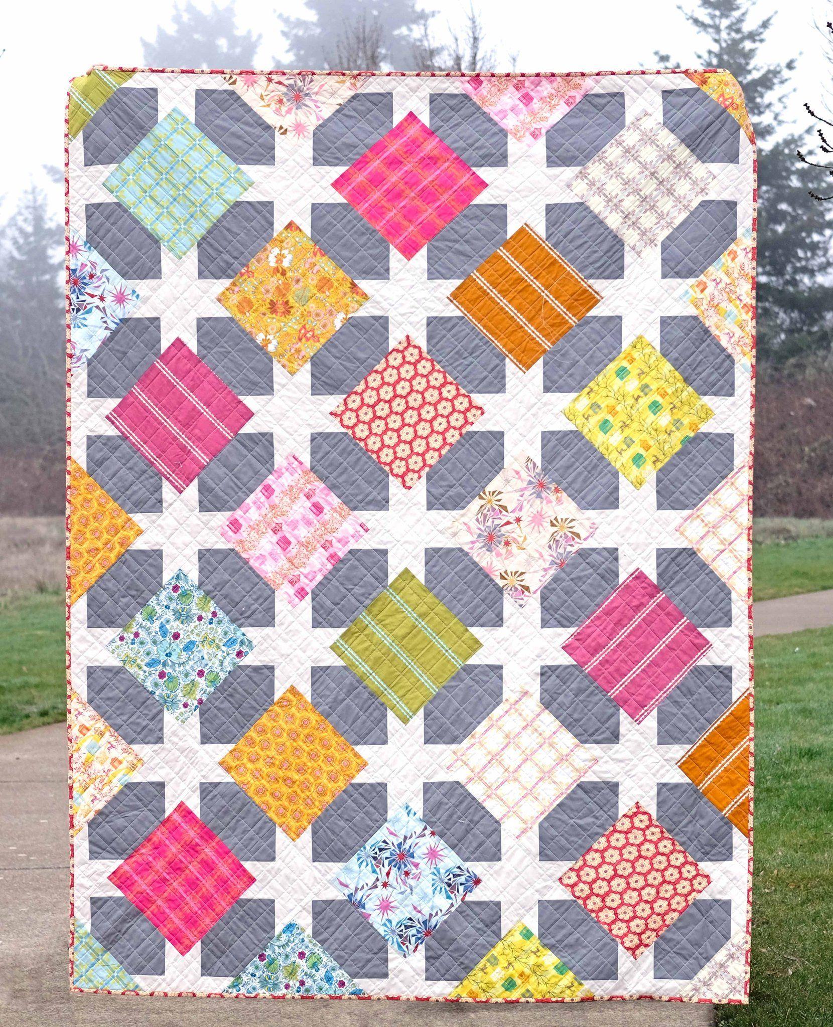 The Rachel Quilt PDF Pattern  Layer cake quilt patterns, Layer