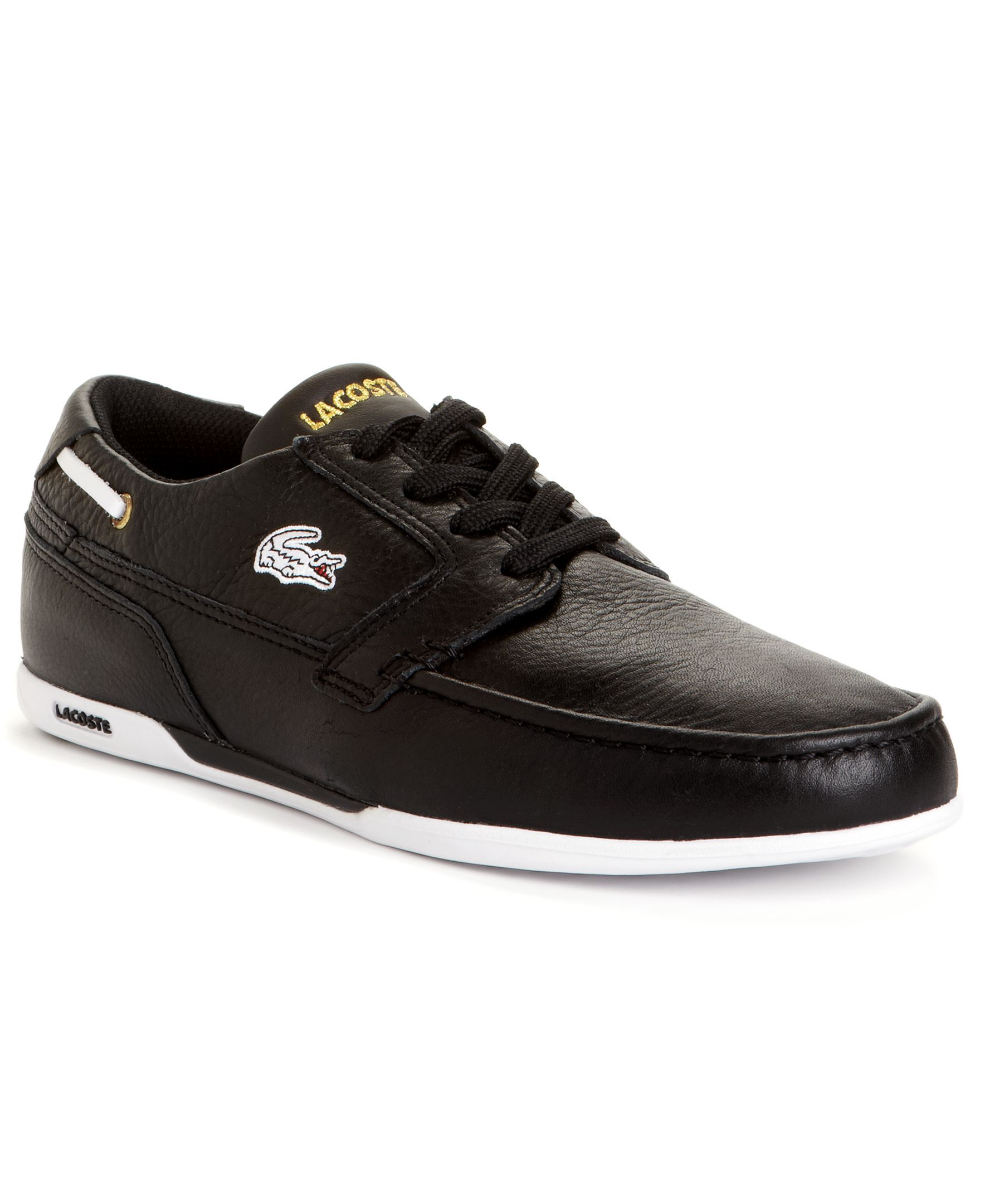 6f778514ac Lacoste Dreyfus Leather Boat Shoes | Products | Lacoste shoes ...