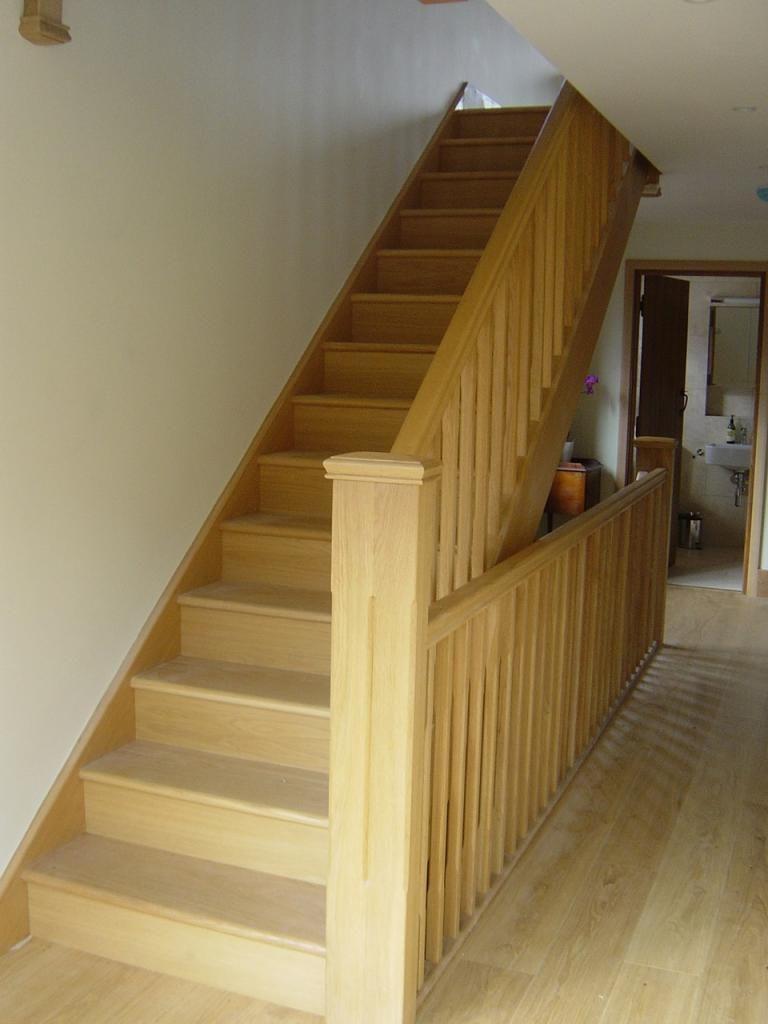 Bon White Oak Banister | ... , Stair Parts In Oak, Loft Stairs ...