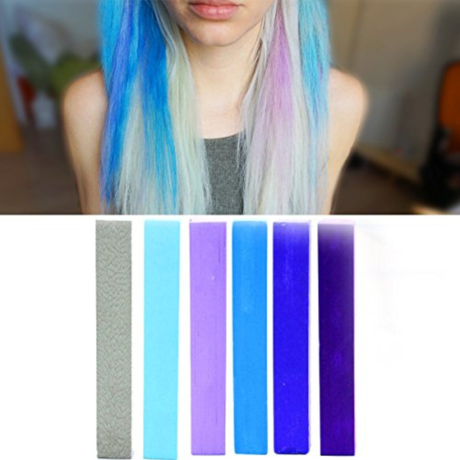 Lilac blue miley cyrus ombre hair color sky blue hair color with