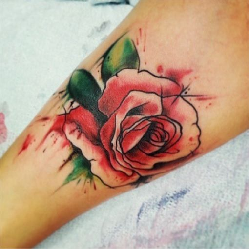 Watercolor Rose Tattoos - Google Search