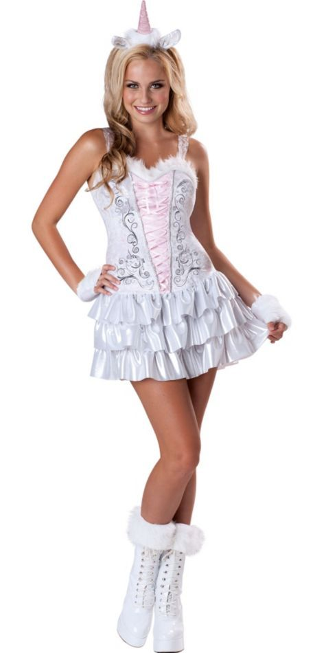 Teen Girls Unicorn Costume - Party City This costume is pretty ...