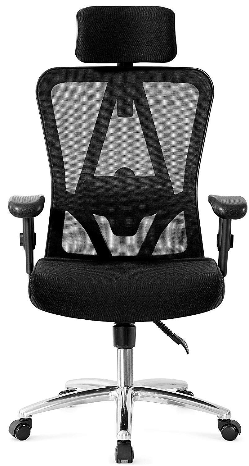 Ticova Ergonomic Office Chair With Adjustable Headrest Armrest