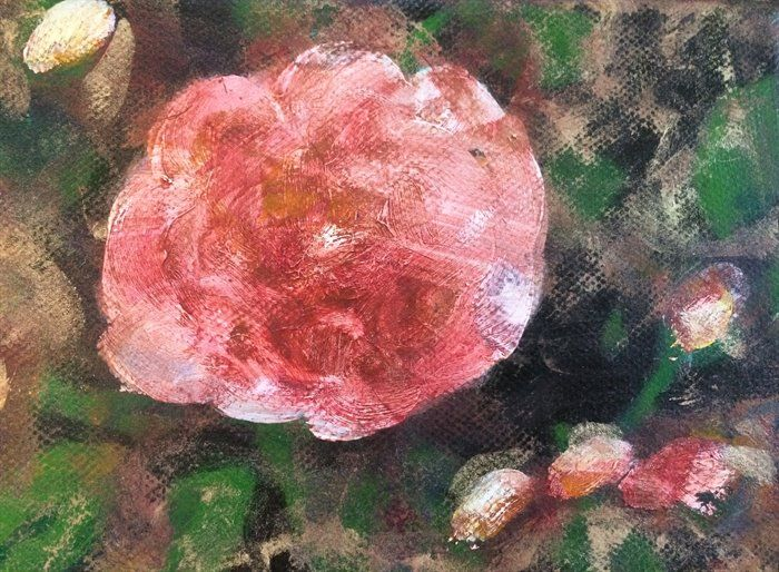 abstract expressionism - Autumn Rose by Åse Birkhaug