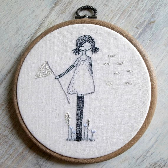 Catching wishes hand embroidery pattern pdf | Patrones, Bordado y Mono