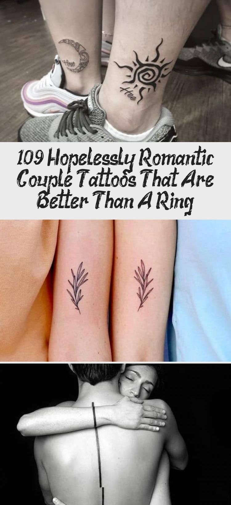 Photo of 109 Hopelessly Romantic Couple Tattoos That Are Better Than A Ring – Tattoo
