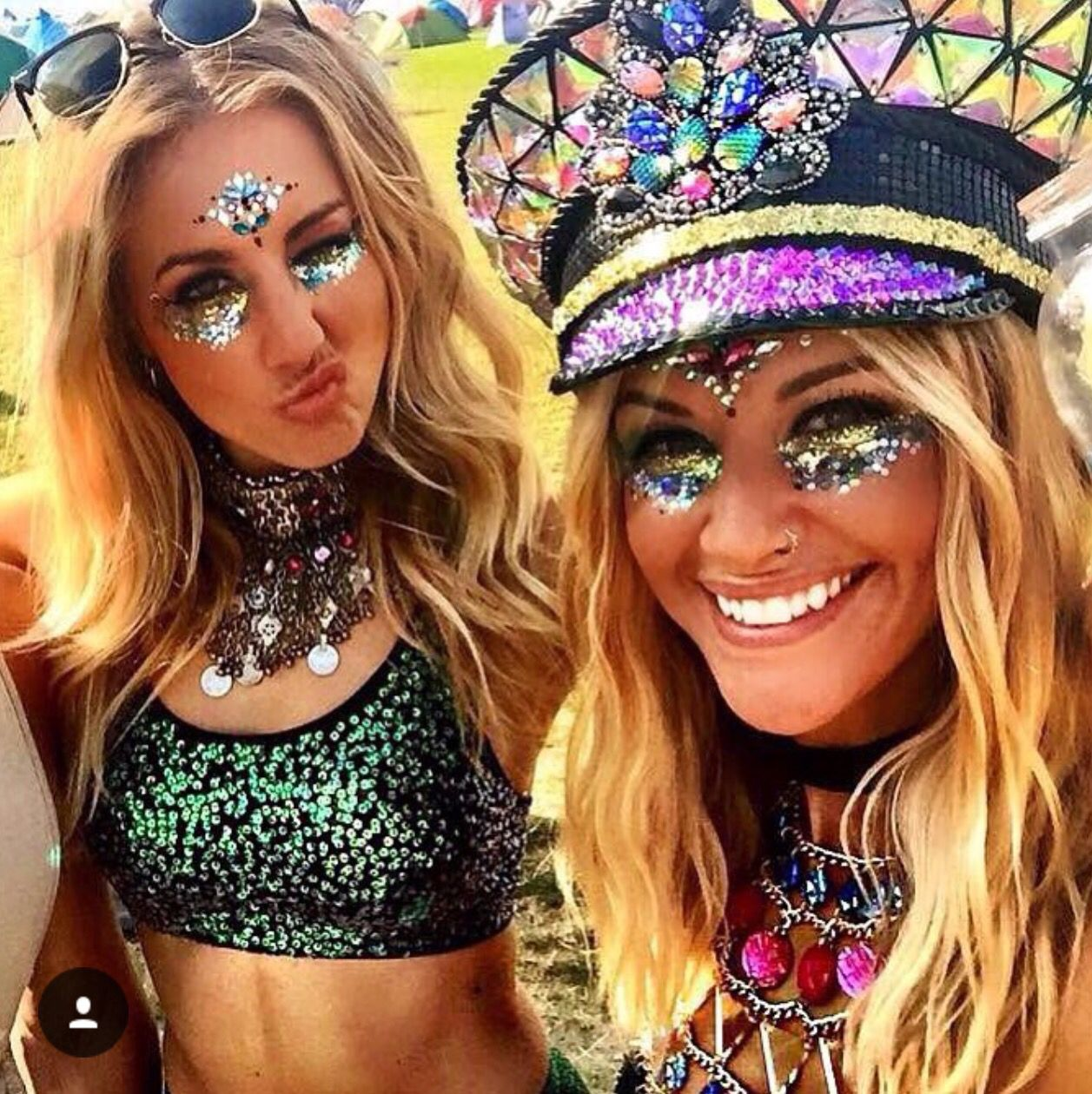 Festival glitter and jewels … | rave on | Festi…