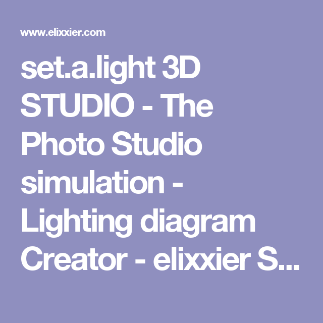 set a light 3d studio the photo studio simulation lighting rh pinterest com AC Generator Diagram Visio Software
