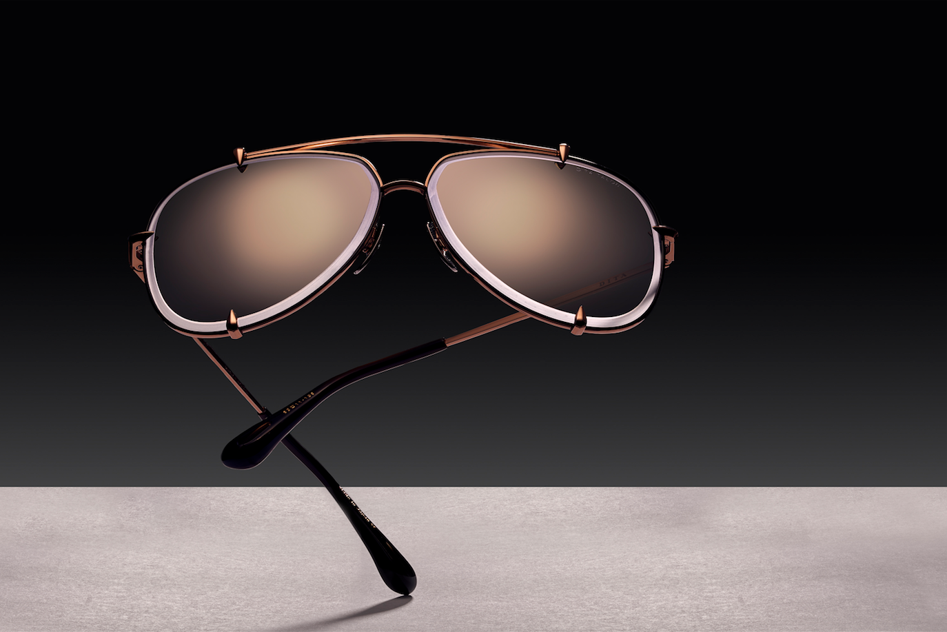 The TALON Aviator Sunglasses in Rose Gold by DITA Eyewear
