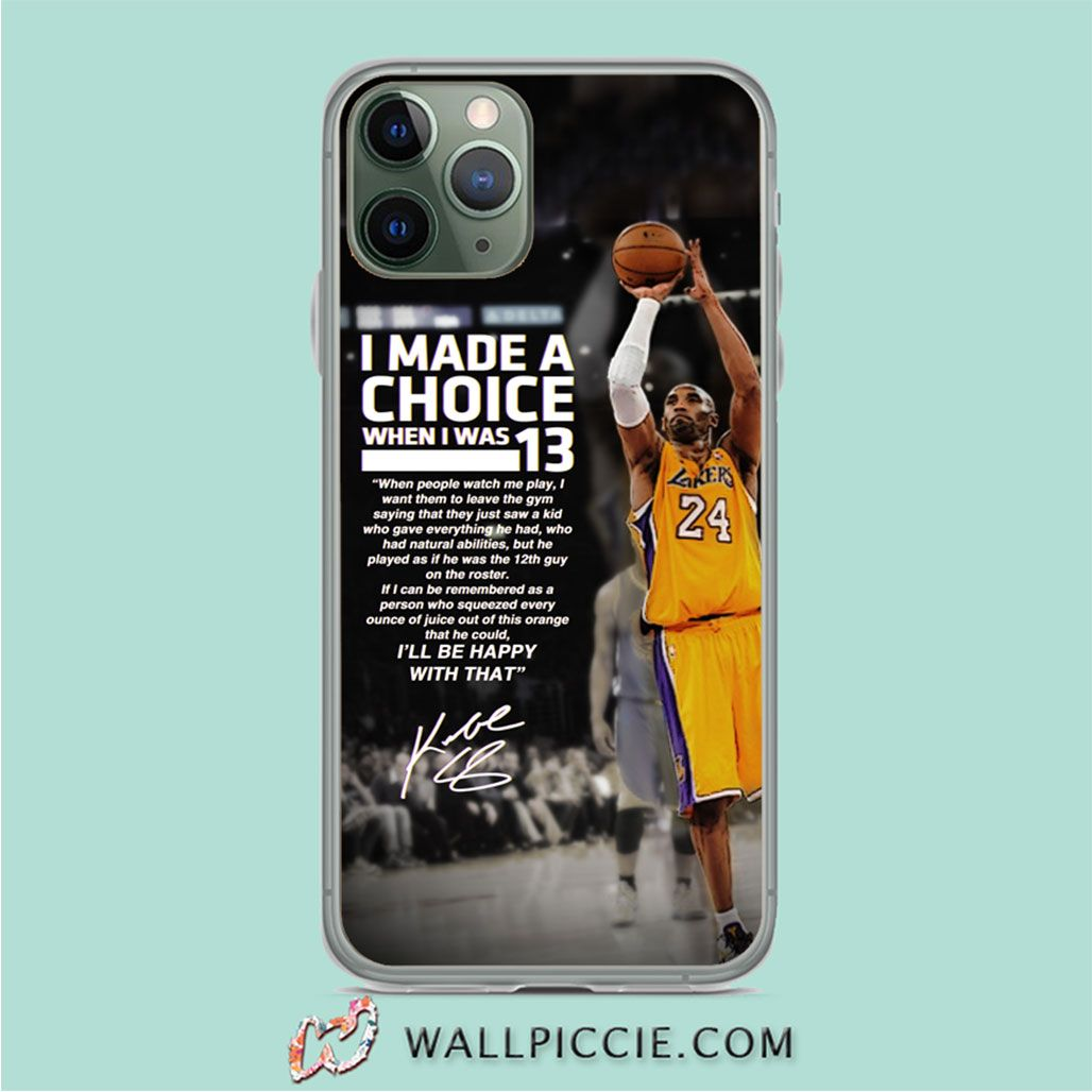 Kobe Bryant Motivational Quote Custom Phone Cases in