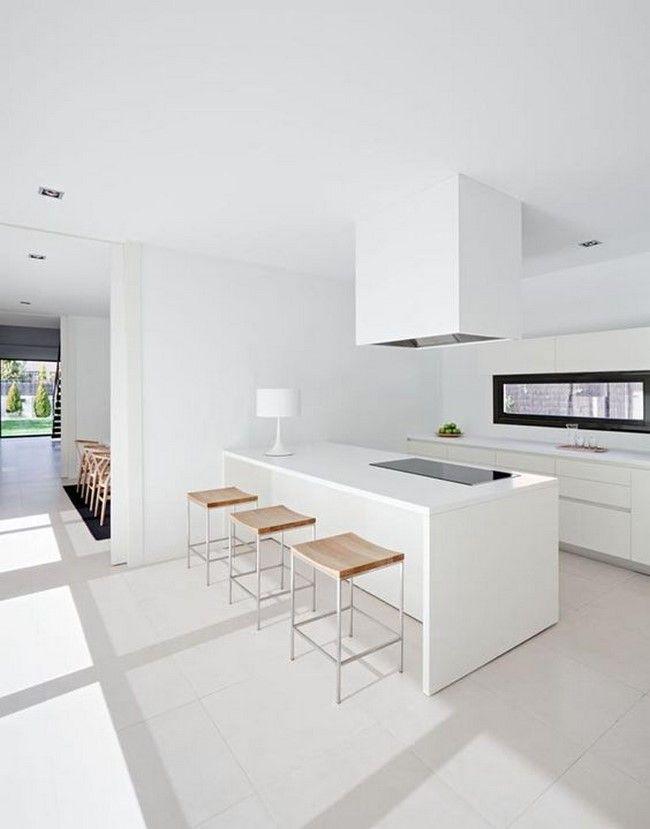 11 cocinas blancas modernas kitchens kitchen design and for Cocinas modernas blancas