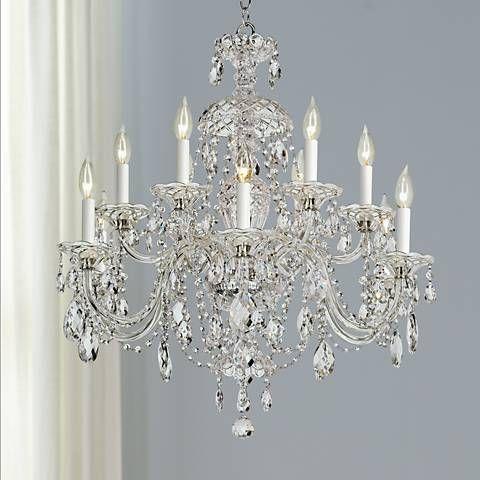 Schonbek sterling 29w heritage crystal 12 light chandelier schonbek sterling 29w heritage crystal 12 light chandelier 75124 lamps aloadofball Gallery