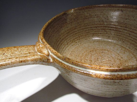 Large Ceramic Stoneware Saucepan for hot oatmeal by claycoyote, $65.00