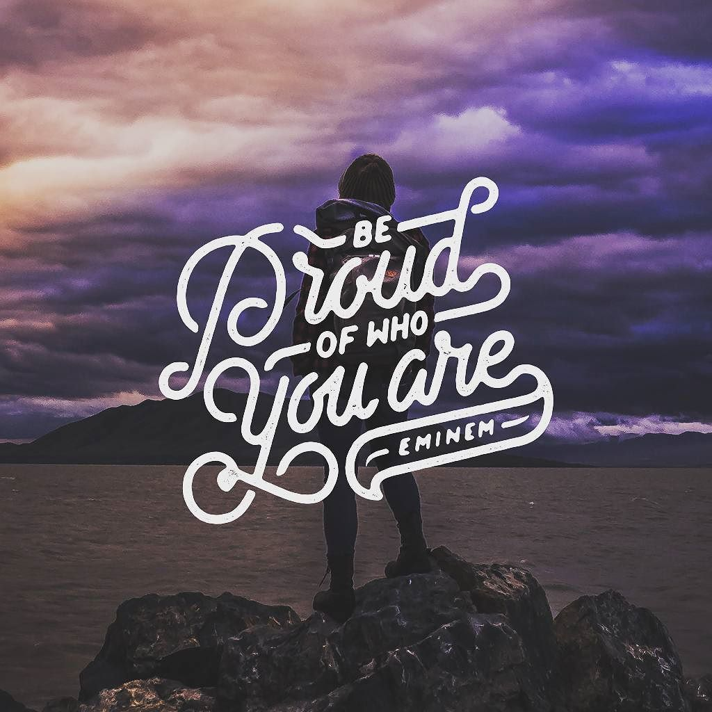 """""""Be proud of who you are"""" Eminem by Mister Doodle"""