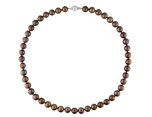 Brown Freshwater Cultured Pearl 8-9mm Necklace (18 inch) in Sterling Silver * You can get additional details at the image link.