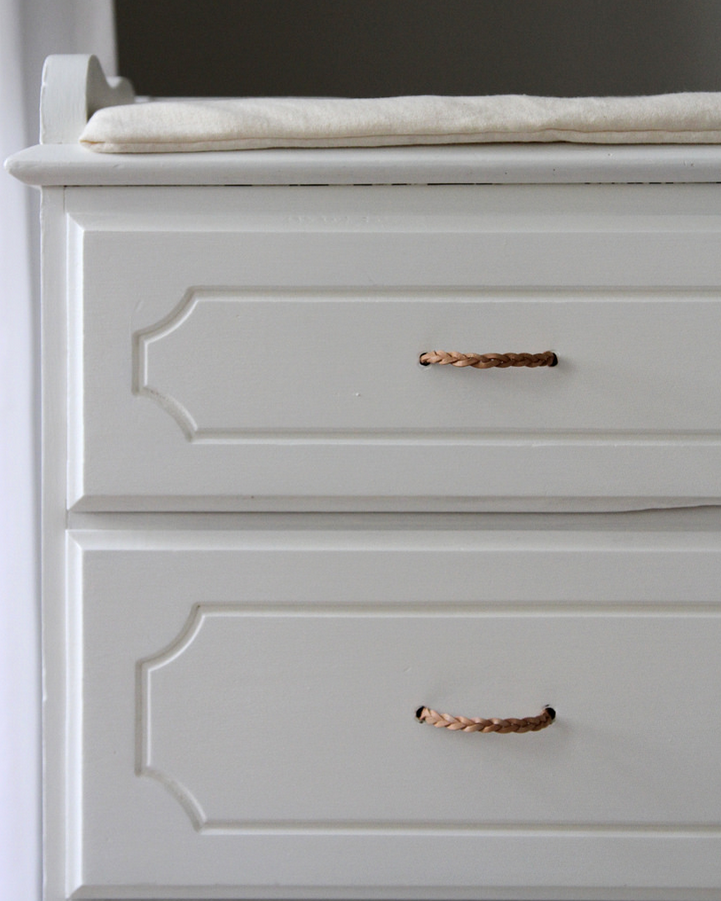Diy Braided Leather Drawer Pulls For 1 25 Each Leather Drawer