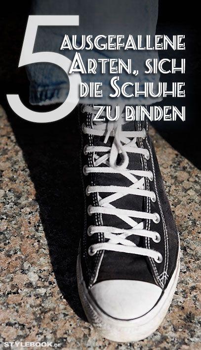 Schuhe und Sneakers binden: 5 coole Tricks   STYLEBOOK
