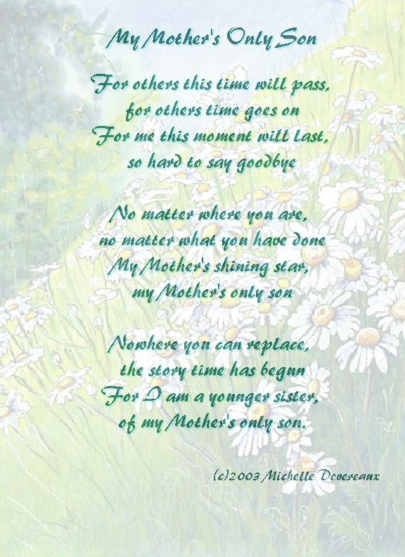 Mother to Son Poetry  Grown Son Poems From Mother