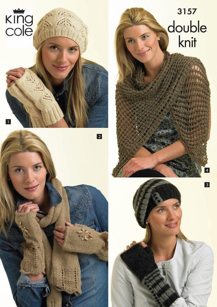 Hat Gloves Scarf In King Cole Baby Alpaca Dk 3157 Pinterest