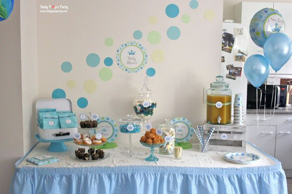 baby shower a new little prince boy b b gar on party f te grossesse naissance jeux d coration. Black Bedroom Furniture Sets. Home Design Ideas