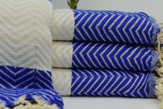 Turkish Towel Towel 40x70 Blue Towel White Towel Turkey Towel