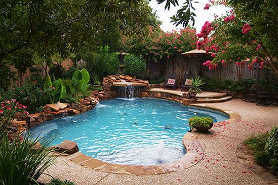 inground lagoon pool | ... the Top Pool Builders in North Dallas ...