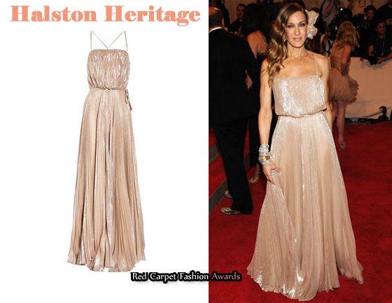 In Sarah Jessica Parker's Closet - Halston Heritage Plissé Maxi ...