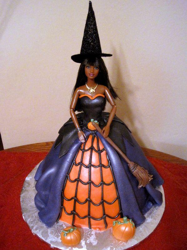 Barbie Halloween Witch Cake Halloween Fall Cakes