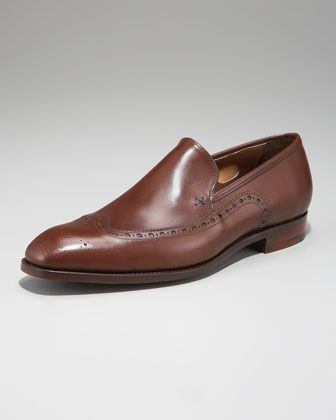 90453aad5e1 Hartwell Wing-Tip Loafer by Barker Black at Neiman Marcus. | Style ...