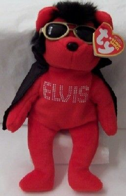 Elvis Red Bear Black Cape Ty Beanie Babies New With Tag  094158817f0