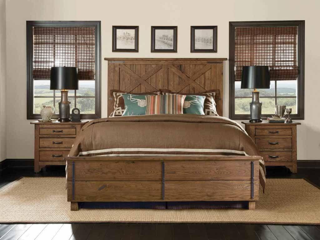 Zurückgefordert Holz Schlafzimmer Möbel Ideen Rustikale