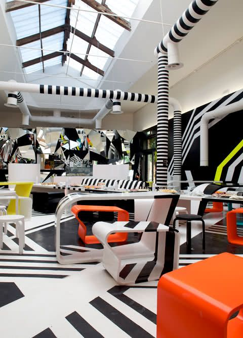 Awesome Cafeteria Designed By Tobias Rehberger In Collaboration With Finnish  Furniture Artek Nice Design