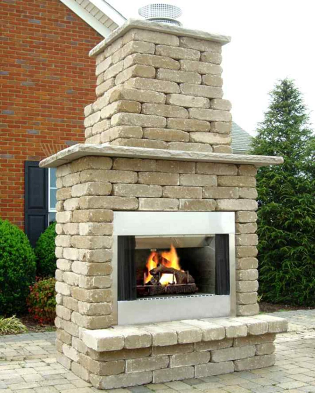 15 Lovely Outdoor Fireplace Ideas For Your Home Outdoor Outdoor Fireplace Kits