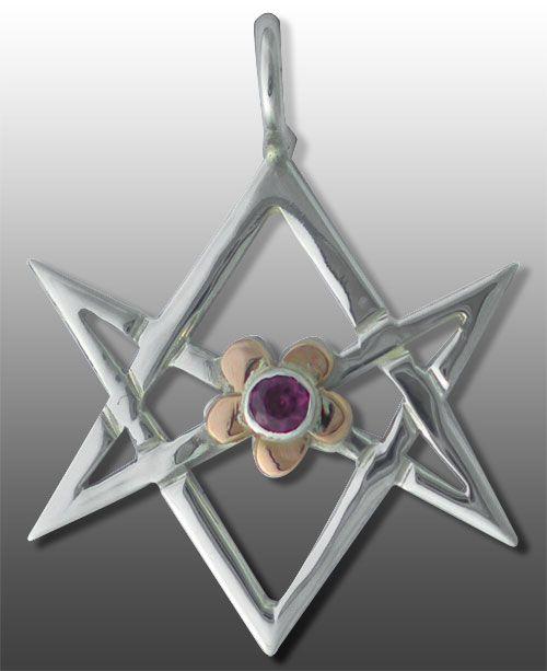 Crowleys unicursal hexagram pendant i like these things and so crowleys unicursal hexagram pendant mozeypictures Images