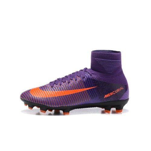 best website e4fc2 ceb81 Beste Nike Mercurial Superfly V FG Fotbollsskor Lila Orange ...