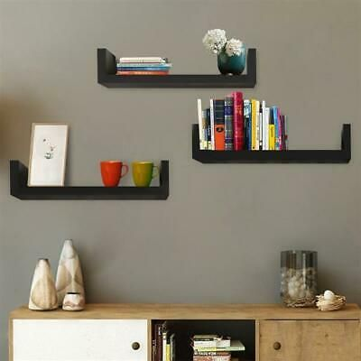 Advertisement Set Of 3 Floating Display Shelves Ledge Bookshelf