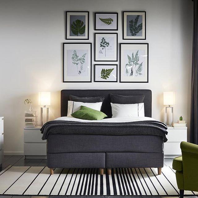 Chambre douillette et lit confortable. | La chambre IKEA | Pinterest